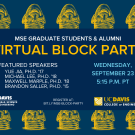 uc davis materials science engineering graduate student alumni virtual block party